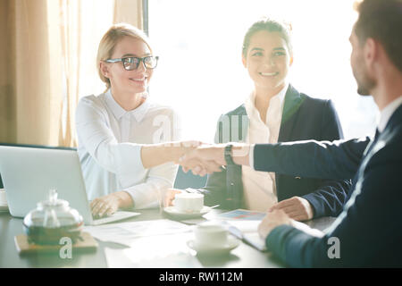 Gesture of agreement - Stock Image