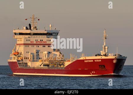Chemical/Oil Products Tanker Northern Ocean inbound Kiel Fjord - Stock Image