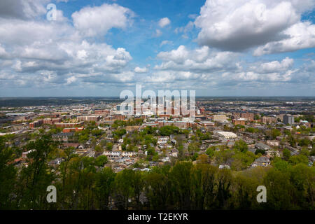 USA Alabama Birmingham overview of the southern city AL - Stock Image