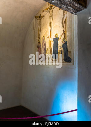 Italy, Tuscany, Florence, Convent of San Marco,monk cell painted by Fra Angelico - Stock Image