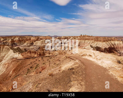 Blue Mesa Trail. Petrified Forest National Park, Arizona. - Stock Image