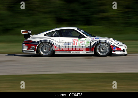 GT3 Porsche at track crossover Autobahn Country Club Race Track - Stock Image