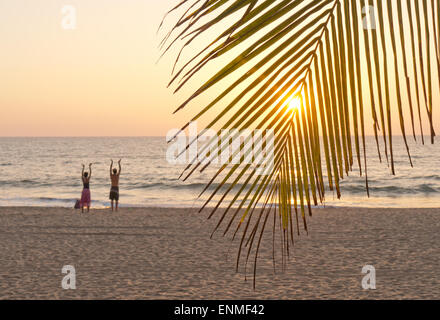 Agonda beach in Goa South India - Stock Image