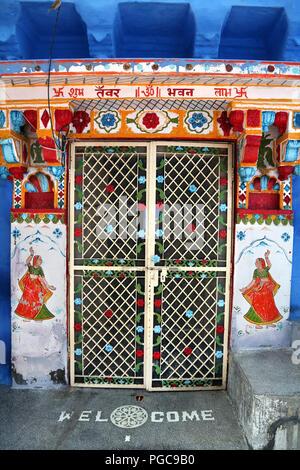 Door in Jodhpur, Rajasthan, India - Stock Image