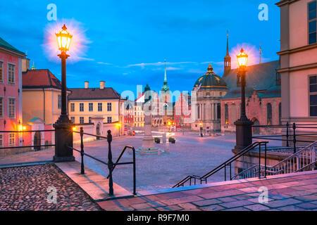 Birger Jarls torg in Stockholm, Sweden - Stock Image