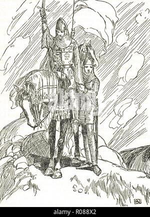 The last battle of El Cid, siege of Valencia, circa 1099 - Stock Image