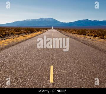 Highway Through Desert - Stock Image
