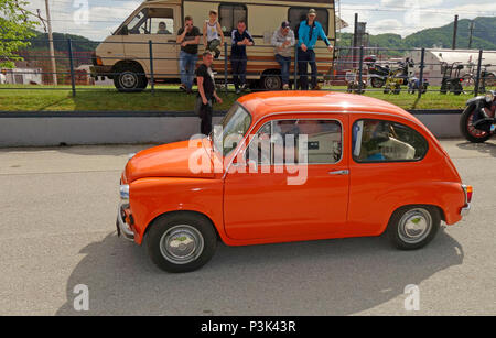 'Zastava 750'  a supermini city car made by the Serbian car maker Zavod Crvena Zastava in Kragujevac made under licence from 1962. It was a version of - Stock Image