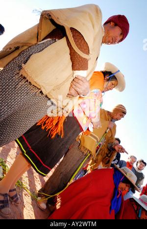 Pachamama, Fiesta Nacional a la Madre Tierra, Tolar Grande, Province of Salta, Argentina, South America - Stock Image