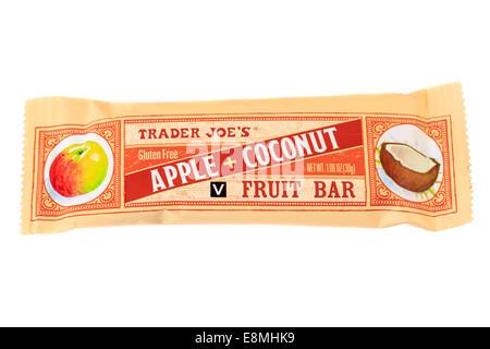 Trader Joe's Apple Coconut Fruit Bar - Stock Image