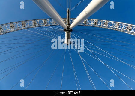 London Eye ferris wheel, London, United Kingdom. - Stock Image