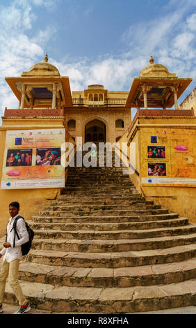 The Golden Triangle cities of Delhi, Agra and Jaipur in Northern India - Stock Image