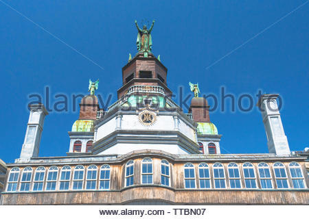 Montreal, Quebec, Canada-May 29, 2019: 'Notre-Dame de Bonsecours Chapel' architectural detail. The famous place is located in Old Montreal and it is o - Stock Image