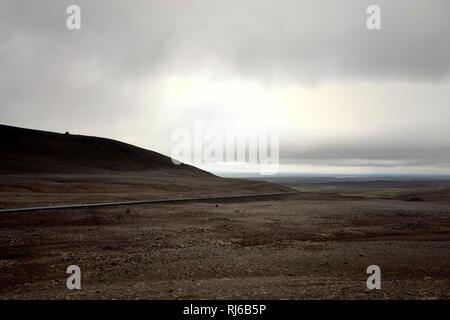 Berg, Straße, Island, Landschaft - Stock Image