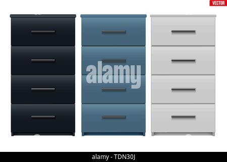 Set of Office Cabinet with drawers - Stock Image