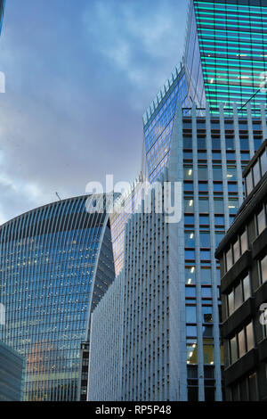 Skyscapers in City of London, UK - Stock Image