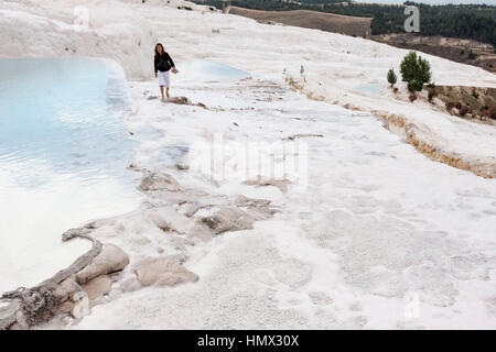 Pamukkale Cotton Castle Turkey - Stock Image
