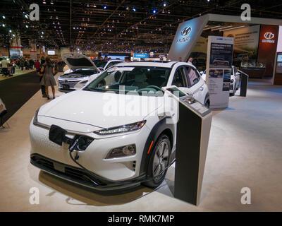 2019 Hyundai Kona Electric, Chicago Auto Show. - Stock Image