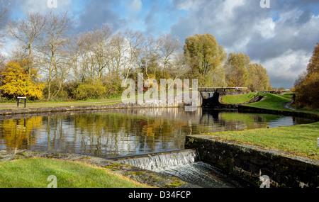 Wigan Locks and Weir - Stock Image