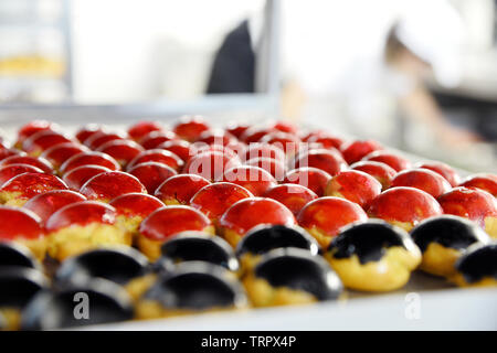 French pastry croquembouches - Paris - France - Stock Image