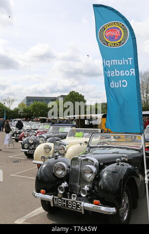 Triumph Roadster Club, British Marques Day, 28 April 2019, Brooklands Museum, Weybridge, Surrey, England, Great Britain, UK, Europe - Stock Image