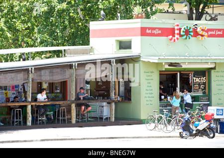 Trendy Jo's cafe Austin, Texas, USA - Stock Image