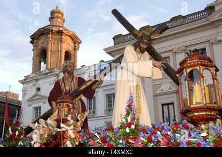 Holy Week. Brotherhood of the Nazareno del Amor. Cadiz. Region of Andalusia. Spain. Europe - Stock Image