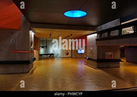Foyer,Barbican Theatre,London,England,UK - Stock Image