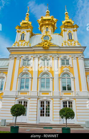 Palace Cathedral of Saints Peter and Paul, Peterhof, near Saint Petersburg, Russia - Stock Image