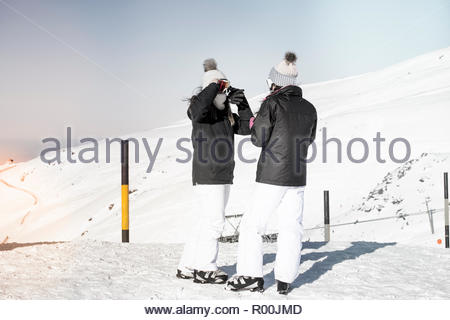 Women at ski field in Spain - Stock Image