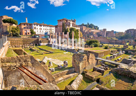 Ancient Rome Forum Romanum and Palatine hill scenic view, eternal city, Italy - Stock Image