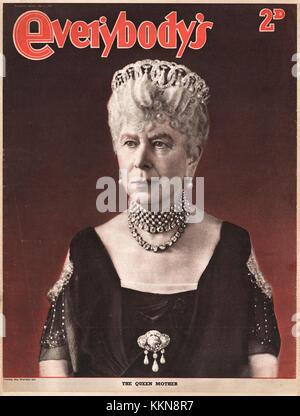 1947 Everybody's Magazine Queen Mary, Queen Mother - Stock Image