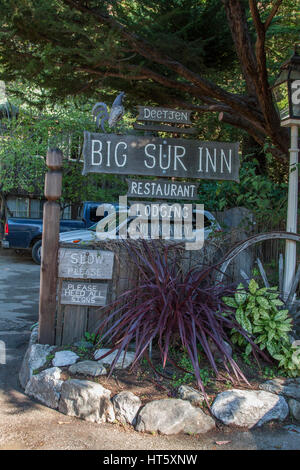 Deetjen's Big Sur Inn in Big Sur California is on the National Register of Historic Places. It's a beautiful, - Stock Image