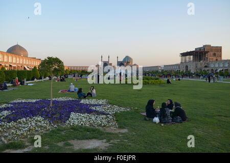 Isfahan (Iran), Imam Square / Naqsh-e Jahan / Royal Square, Safavid period (17th century) - Stock Image