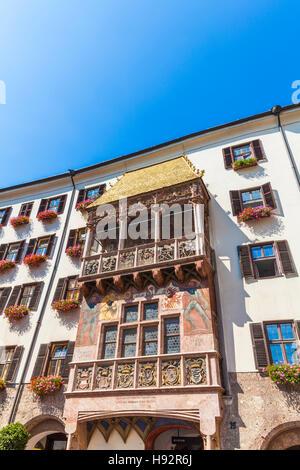 GOLDEN ROOF BUILDING, GOLDENES DACHL, OLD TOWN, INNSBRUCK, TIROL, TYROL, AUSTRIA - Stock Image