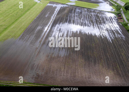 Flooded Field after Rain - Stock Image