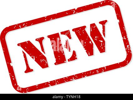 New red rubber stamp vector isolated - Stock Image