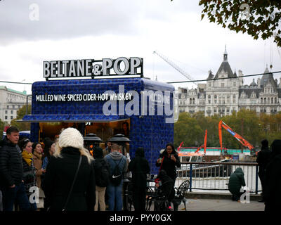 Beltane & Pop Asquith van parked on the Southbank - Stock Image