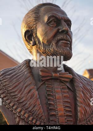 Bust Of John Houlding, Founder Of Liverpool FC. - Stock Image