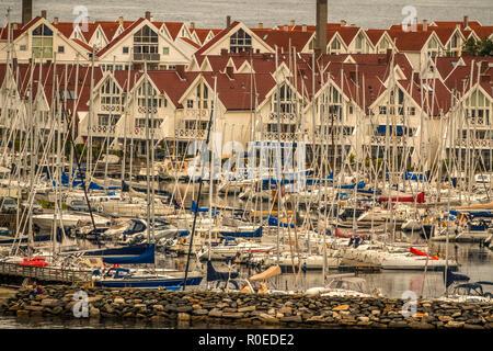 Marina Next To The Harbour,  Stavanger  Norway - Stock Image