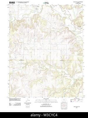 USGS TOPO Map Kansas KS Oak Valley 20120904 TM Restoration - Stock Image