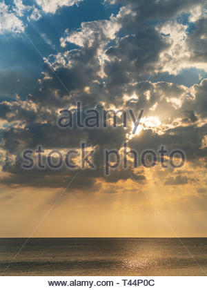 Sunset over the Pacific Ocean in Costa Rica - Stock Image