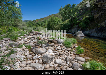 Views of the Minchones Stream, in the region of La Vera, Caceres, Extremadura, Spain - Stock Image