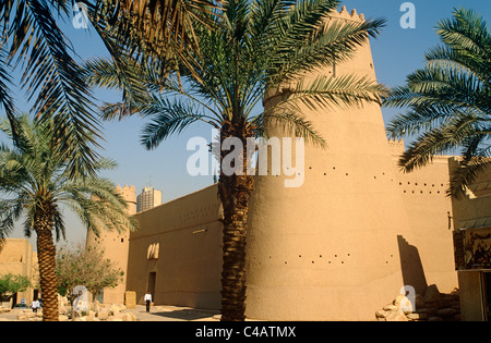 Saudi Arabia, Riyadh. Built in around 1865 and now much restored, Masmak Fort (or Qasr al-Masmak) - Stock Image