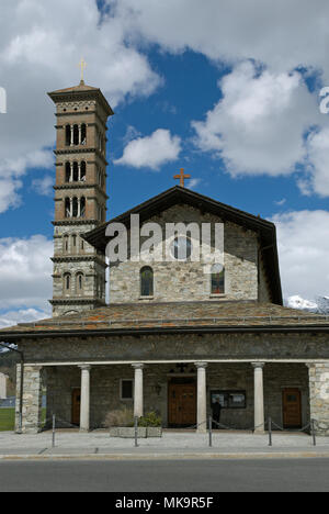 ST. KARL CHURCH, ST. MORITZ-BAD, ST. MORITZ, UPPER ENGADIN, CANTON GRISONS, SWITZERLAND - Stock Image