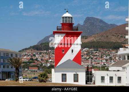 south africa cape town sea point lighthouse signal hill - Stock Image