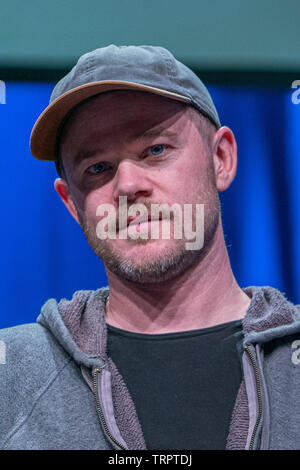 Bonn, Germany - June 8 2019: Aaron Ashmore (*1979, Canadian actor - Killjoys  ) at FedCon 28, a four day sci-fi convention. FedCon 28 took place Jun 7-10 2019. - Stock Image