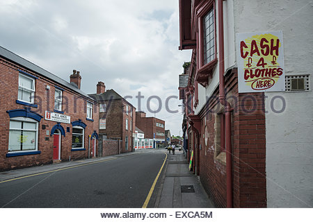 Street containing a mixture of small businesses. Willenhall, West Midlands - Stock Image