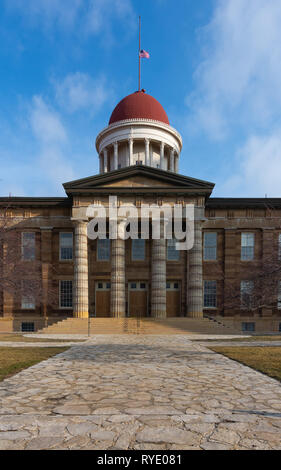 Exterior of the Old Capitol Building on a Spring morning.  Springfield, Illinois, USA. - Stock Image