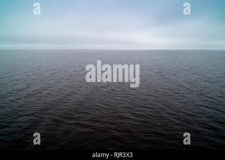 Overcast day on Mobile Bay. Photo taken from the pier at Fairhope, Alabama, USA, - Stock Image